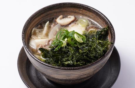 牛肉とあおさの具沢山スープ