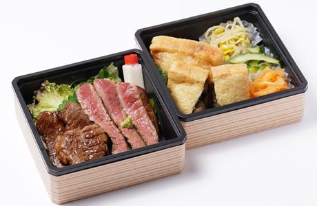2段重ステーキ&焼肉